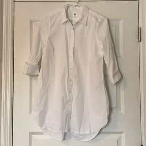 NWT GAP Maternity White Button Down Shirt